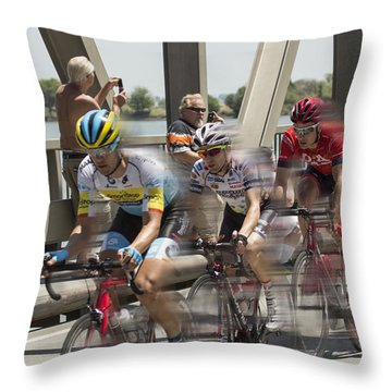 Bike Race Throw Pillow