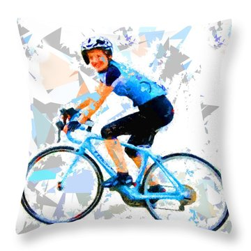 Throw Pillow featuring the painting Biker 1 by Movie Poster Prints