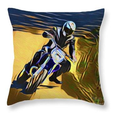 Biker 21018 Throw Pillow