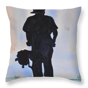 Biker Throw Pillow