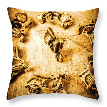 Bikes From Antique Italy Throw Pillow