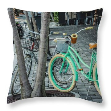 Bikes To The Beach Throw Pillow
