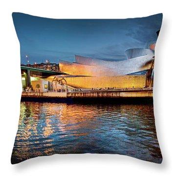 Bilbao Guggenheim Throw Pillow by Marty Garland