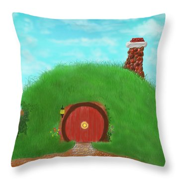 Bilbo's Home In The  Shire Throw Pillow
