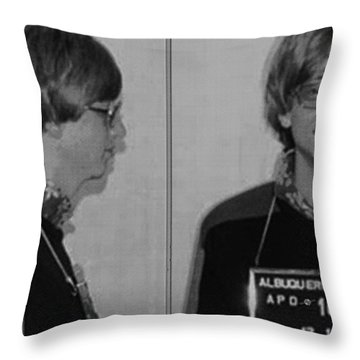 Bill Gates Mug Shot Horizontal Black And White Throw Pillow by Tony Rubino
