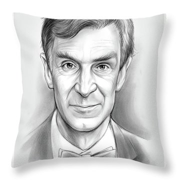 Bill The Science Guy Throw Pillow