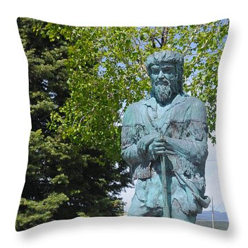 Bill Williams Statue Throw Pillow