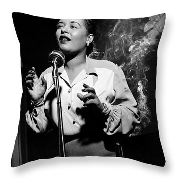 Billie Holiday  New York City Circa 1948 Throw Pillow
