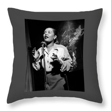 Billie Holiday  New York City Circa 1948 Throw Pillow by David Lee Guss