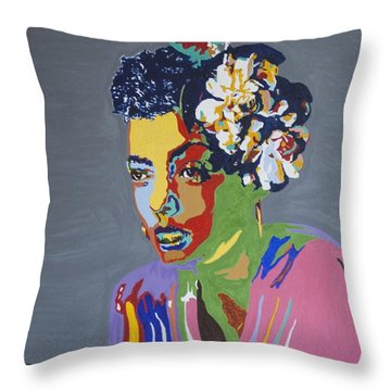 Billie Holiday Throw Pillow
