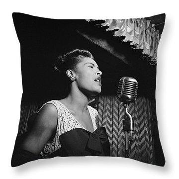 Billie Holiday William Gottlieb Photo New York City 1947 Throw Pillow