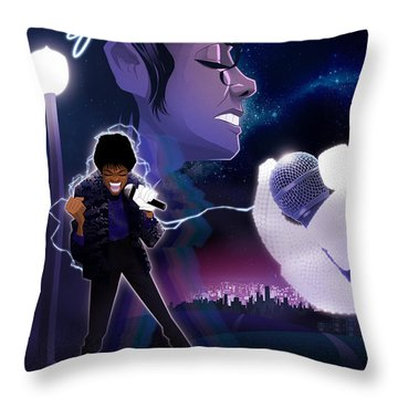 Billie Jean 2 Throw Pillow by Nelson dedos Garcia