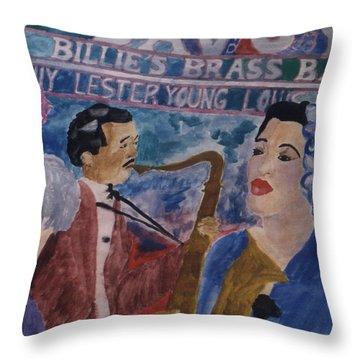 Billie's Brass Band Throw Pillow