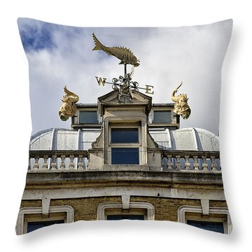 Billingsgate Fish Market London Throw Pillow