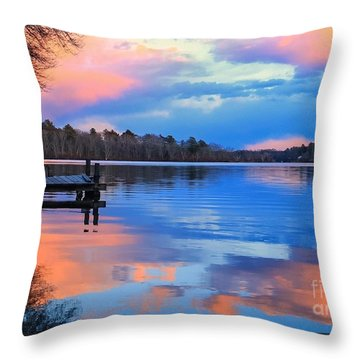 Billington Sea Sunset Throw Pillow