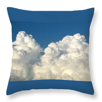 Throw Pillow featuring the photograph Billowing Clouds 1 by Rose Santuci-Sofranko