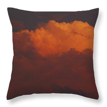 Billowing Clouds Sunset Throw Pillow