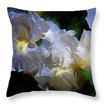 Billowing Irises Throw Pillow