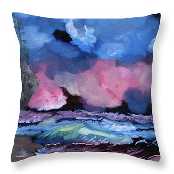 Billowy Clouds Afloat Throw Pillow
