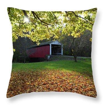 Billy Creek Bridge Throw Pillow