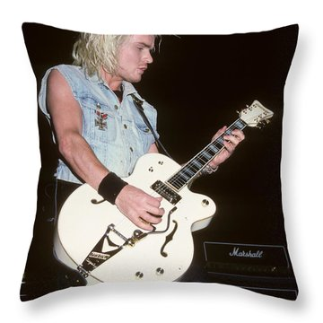 Billy Duffy Of The Cult Throw Pillow