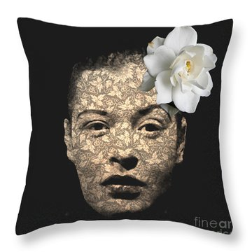 Billy Holiday Throw Pillow