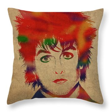 Green Day Throw Pillows