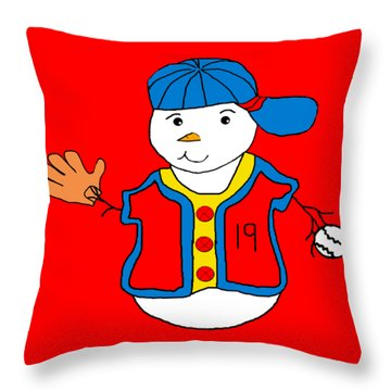 Throw Pillow featuring the painting Billy Sparkles by Belinda Landtroop