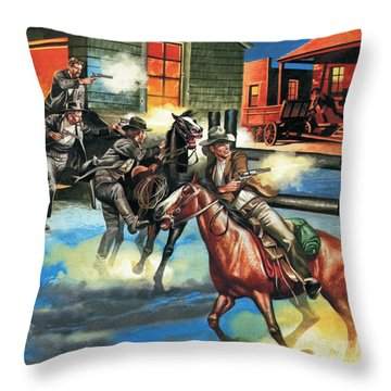 Billy The Kid  The Infamous Gunman Throw Pillow