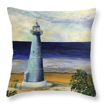 Biloxi Lighthouse Throw Pillow
