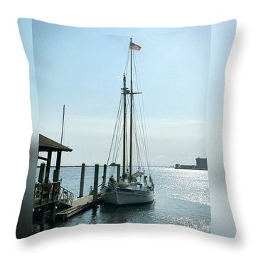 Biloxi Schooner #enlight #biloxi Throw Pillow