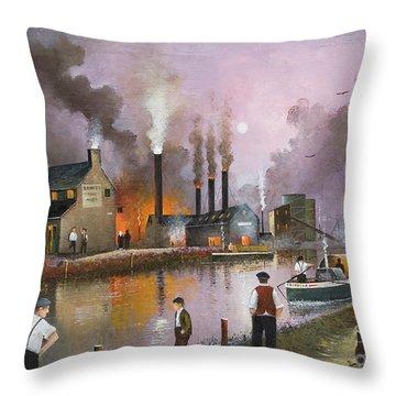 Bilston Steelworks Throw Pillow