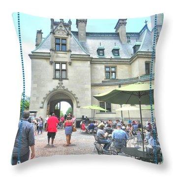 Biltmore Courtyard Throw Pillow