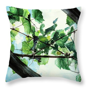 Biltmore Grapevines Overhead Throw Pillow