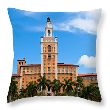 Throw Pillow featuring the photograph Biltmore Hotel by Ed Gleichman