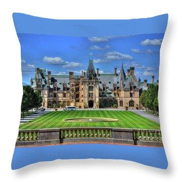 Biltmore Mansion Estate Asheville North Carolina  Throw Pillow