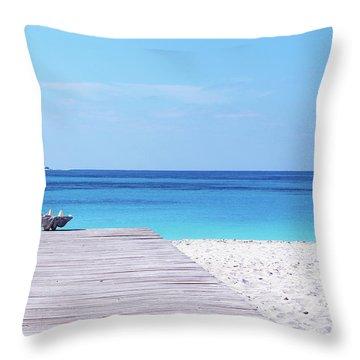 Bimini Beach Club Throw Pillow