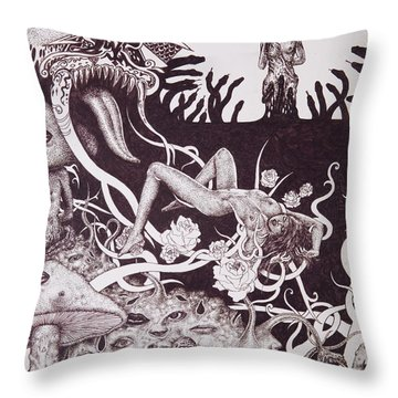Binah Qlippoth Throw Pillow