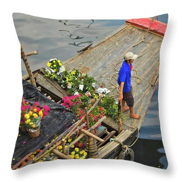 Binh Dong Market Throw Pillow