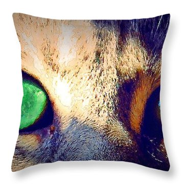 Bink Eyes Throw Pillow