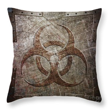 Bio Hazard Throw Pillow