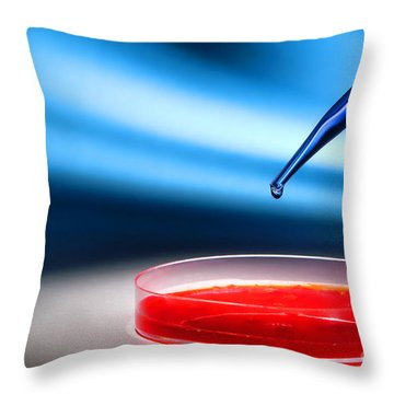Laboratory Throw Pillows
