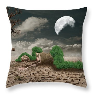 Biotic Decomposition Throw Pillow