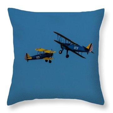 Biplanes Near Collision 5x7 Throw Pillow