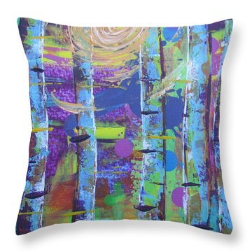 Birch 6 Throw Pillow