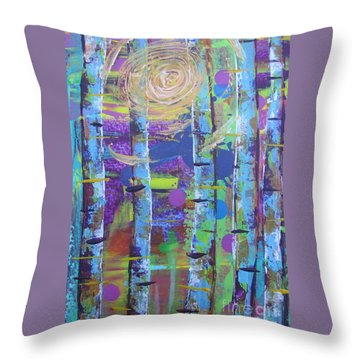 Birch 6 Throw Pillow