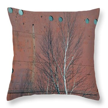 Birch And Ship Throw Pillow