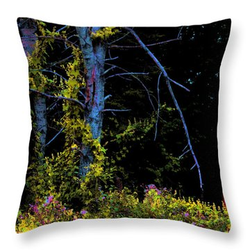 Birch And Vines Throw Pillow