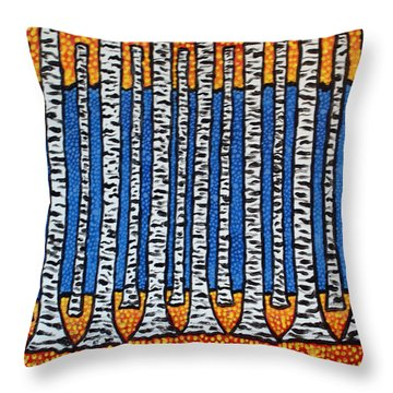Birch Forest Throw Pillow by Jean Haynes