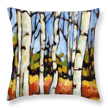 Birch Study By Prankearts Throw Pillow by Richard T Pranke